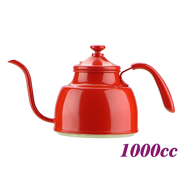 1.0L  Pour Over coffee Pot - Red (HA1604RD)