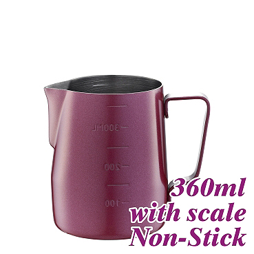 #1311 360cc Non-Stick  Milk Pitcher w/ scale (HC7086RD)