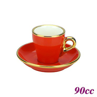#17 Espresso Cup w/ Saucer - Red (HG0846R)
