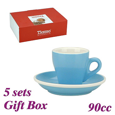 #17 Espresso Cup w/ Saucer - Baby Blue (HG0850BB)