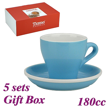 #14 Cappuccino Cup w/ Saucer - Baby Blue (HG0851BB)