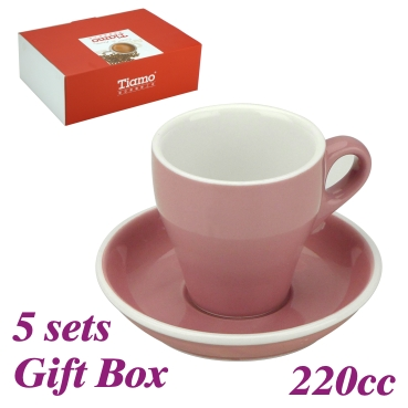 #18 Large Cappuccino Cup w/ Saucer - Pink (HG0852PK)