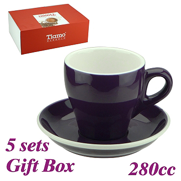 #19 Latte Cup w/ Saucer - Purple (HG0853P)