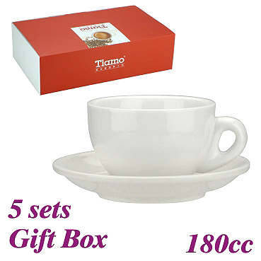 #20 Cappuccino Cup w/ Saucer - White (HG0854W)