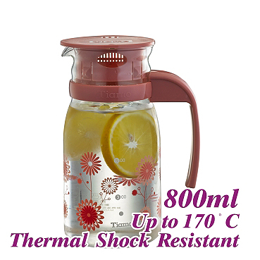 #805 Glass Pitcher - Red (HG2105)