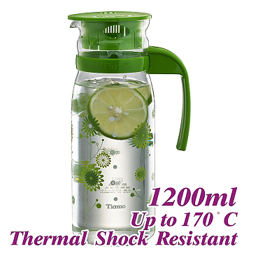 #1215 1.2L Water Pitcher - Green (HG2108)