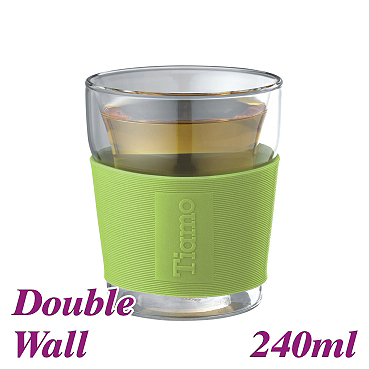 1003V Double Wall Glass - Green (HG2253)
