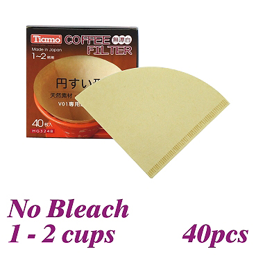V01 No Bleach Coffee Filter Paper - 40pcs./box (HG3248)