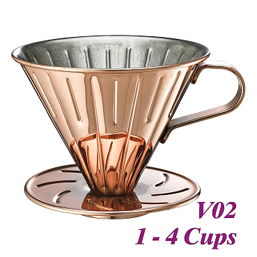 V02 Stainless Steel Coffee Dripper-Bronzed (HG5034BZ)