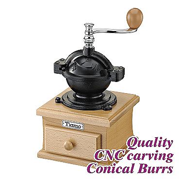 #1309 Coffee Grinder - Cast Iron/Beech Color (HG6081)