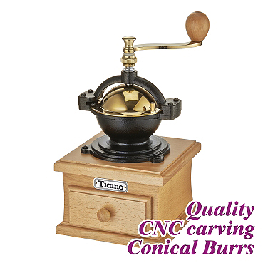 #1309 Coffee Grinder - Gold/Beech Color (HG6146)