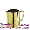 #1311 360cc Milk Pitcher w/ scale - Titanium Golden (HC7089)