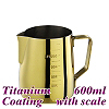 #1312 600cc Milk Pitcher w/ scale - Titanium Golden (HC7090)