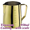 #1326 950cc Milk Pitcher w/ scale - Titanium Golden (HC7091)