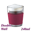 1003V Double Wall Glass - Red (HG2252)